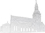 Riga Dome Church poster