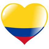 Colombia in heart poster