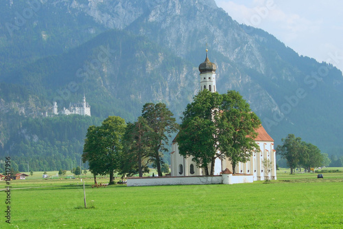 St.Coloman and Neuschwanstein Castle, Germany