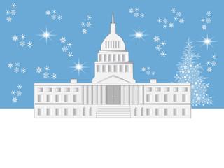 Washington DC Winter Holiday Scene
