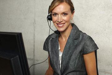 Attractive customer support agent