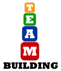 Team building symbol with cubes