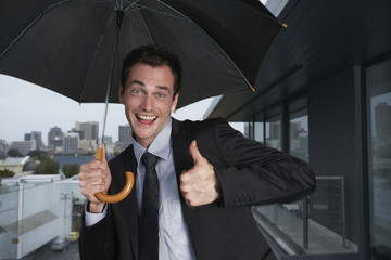 Funny man in the rain