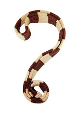 Wool scarf in question mark