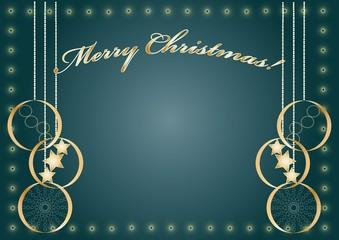 Merry Christmas dark blue