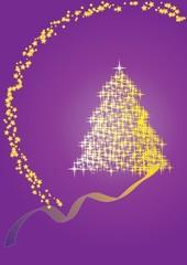 Christmas fir violet