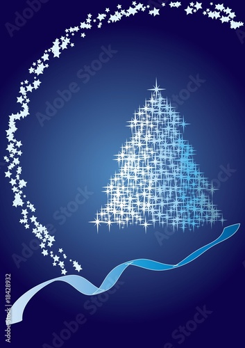 Christmas fir dark blue