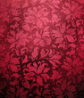 red floral wallpaper