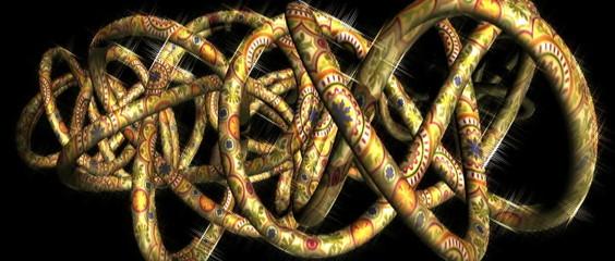 knots, abstract screen saver