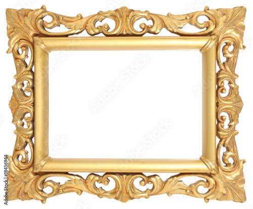 Marco dorado barroco de madguy imagen libre de derechos for Marcos de fotos dorados