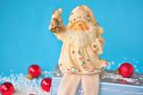 Weihnachtsmann läutet zum Fest poster
