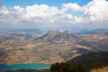 A distant view of Sierra de Grazalema