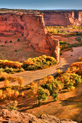 HDR Image of Canyon de Chelly in Arizona