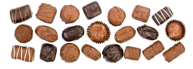 chocolate candy panorama