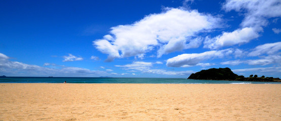 Beach at Mt Manganui, Bay of Plenty, New Zealand