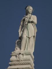 Escultura de la Justicia en el Palacio Ducal de Venecia