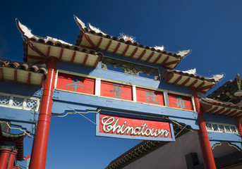Entrance to Chinatown shopping center - Los Angeles