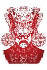 scissor-cut -Ancient Character from Peking Opera