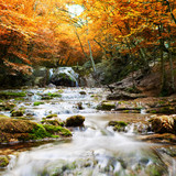 Fototapety Natural autumn Waterfall