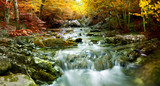 Natural autumn Waterfall