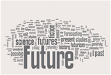 Future word cloud poster
