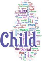Child word cloud