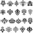 damask emblems set