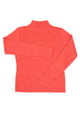 Comfortable red sweater on a white.
