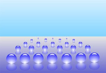 drops of water on a background