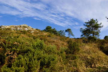 view of a small mountain in brittany
