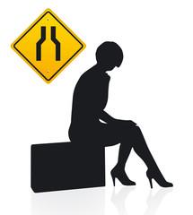 wartende Frau