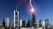 Blitzeinschlag in Frankfurt