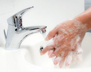 Hände waschen. Schutz vor Neuer Schweine Grippe H1N1