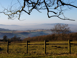 View over cotswold landscape