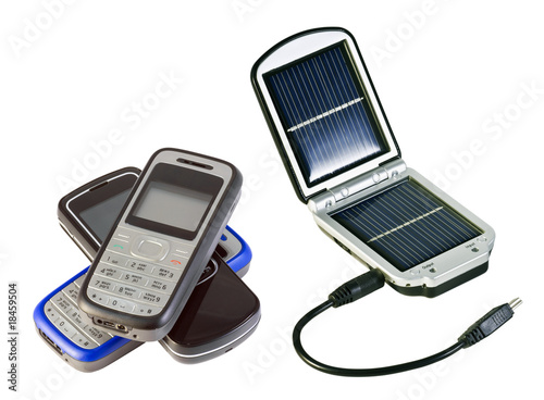 charging solar batteries and mobile phone