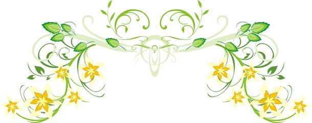 Pattern of floral ornament for decor. Vector