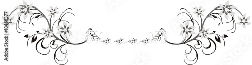 Fragment of floral ornament for frame. Vector