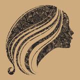 Fototapeta dziewczynka - twarz - Włosy
