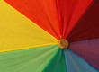 Umbrella in rainbow colors