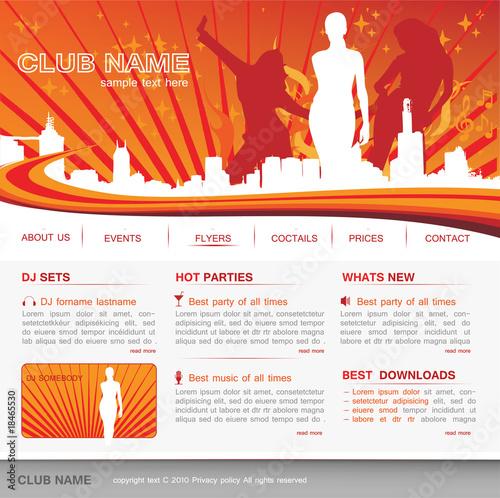 music club website design