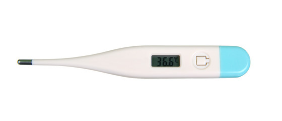 Thermometer show 36,6 celsius degrees, with clipping path