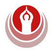 Om Prayer - Aum Gebet symbol in rot