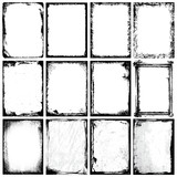 Grunge Frames, Corners, Background and Textures - 18468967