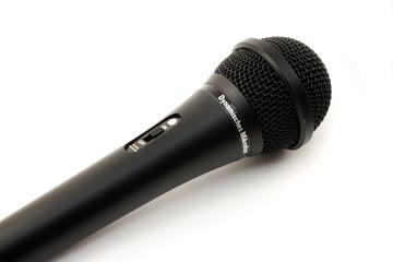 Old black microphone