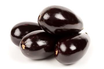 Fresh bio eggplants isolated