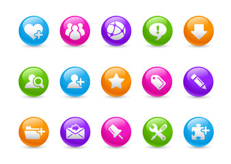 Rainbow Icons // Internet & Blogg