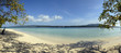 Panorama of a tropical beach