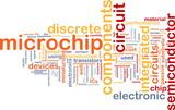 Microchip word cloud poster