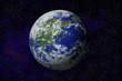 Leinwanddruck Bild - 地球のイラスト