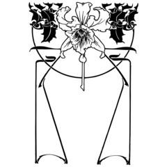 Flower Art Deco Illustration Vector
